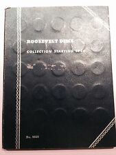 1946-1979 Roosevelt Dime Album-48 90% Silver Dimes+27 Clad-Fine to Unc Condition