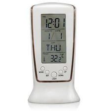 LCD Digital Alarm Clock Calendar Thermometer Backlight Night Light Snooze Alarm