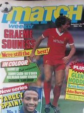 Match weekly magazine soccer 16/01/1982 Poster Sammy Lee Liverpool - Charlton Te