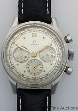 Scarce 2287 Omega Round Button Chronograph Vintage Mens Watch
