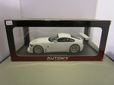 AUTOART 1/18 MOTORSPORT WHITE BMW Z4 COUPE PLAIN BODY CAR USED PERFECT *READ*