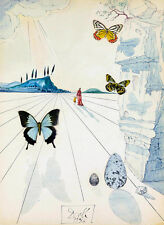 Salvador Dali butterflies  Reproduction of painting  8X12 canvas print poster