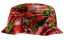 New Era Red Tropical Bucket Hat Cap Bob Island Red