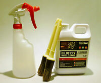Valet PRO Bilberry Wheel Cleaner 1 Litre with Trigger Spray Bottle and 2 Brushes