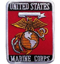 NEW PREMIUM IRON ON PATCH UNITED STATES MARINE CORPS US EAGLE GLOBE ARMY SEW ON