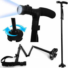 Walking Stick with Light Folding & Height Adjustable Foldable Free Standing