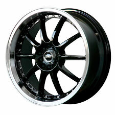 "ULTRALITE SPEC 18"" x 7.5 ET42 5x114.3 5x100 BLACK POLISH ALLOY WHEELS RIMS Y1030"