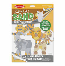 Melissa & Doug Mess-Free Sand Jumbo Foam Stickers Jungle #30043 NEW