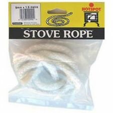 Hotspot 9mm x 1.5m Pre-Cut Glass Fibre Stove Rope For Sealing Stoves and Fires