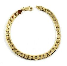 Mens 14K Yellow Gold Plated 8in Cuban Link Bracelet 4.7 MM