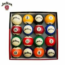 Jim Beam Official Licensed Pool / Snooker Ball Set - 16 Pieces