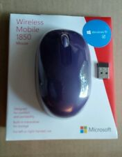 "Microsoft 1850 Wireless Mobile Mouse Purple Includes 1 ""AA"" alkaline battery New"