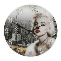 Widdop Hometime Marilyn Monroe Glass Wall Clock 30cm W9714