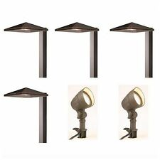 Low Voltage LED Outdoor Path Landscape Light 6 Lights Lighting Fixture Kit Set