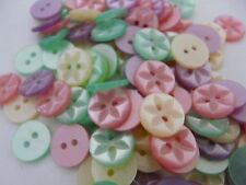 100 x ASSORTED STAR BABY GIRL BUTTONS SIZE 22 - 13MM.
