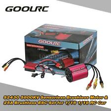 GoolRC S2430 5800KV Brushless Motor +25A Brushless ESC Combo Set for RC Car S8R6