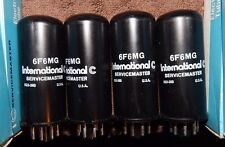 4 NOS NIB MATCHED QUAD GIANT METAL 6F6MG 6F6 TUBES INTERNATIONAL C USA VINTAGE
