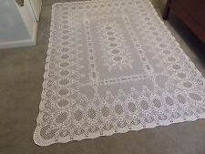 New White lace Valencia design Tablecloth 60 x 84