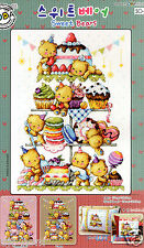 """Sweet Bears"" Cross stitch pattern leaflet. Big Chart. SODA SO-G58"