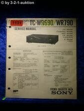Sony Service Manual TC WR690 / WR790 Cassette Deck (#1131)