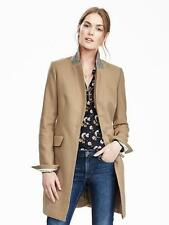 NWT Banana Republic Melton Wool Buttoned Top Coat, Camel SIZE 4    #256724