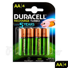 4 x Duracell Rechargeable AA batteries 2500 mAh replaces 2400 Duralock NiMH HR6