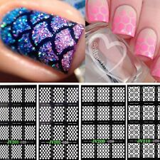12sheets Nail Art Maniküre Stencil Sticker Stamping Vinyls Easy Use