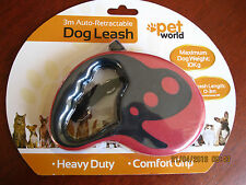 Brand new 3m Auto-Retractable Heavy duty Dog Leash.Comfort Grip. Max weight 10kg