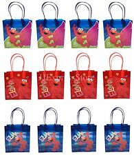 12x Sesame Street Elmo Birthday Party Favor Goody Bags Loot Bags Gift Candy Bags
