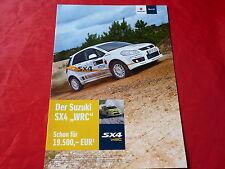 """SUZUKI SX4 """"WRC"""" Sondermodell Prospekt von 2008"""