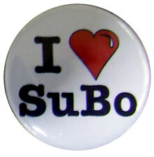 I HEART SUBO (1 inch) 25mm badge, I love Susan Boyle
