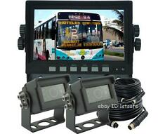 "7"" LCD MONITOR+TWO WATERPROOF IR BACKUP CAMERAS, REAR VIEW SYSTEM, VEHICLE CCTV"