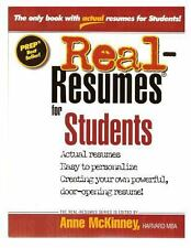 Real-Resumes for Students by Anne McKinney (2012, Paperback)