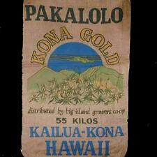 HAWAIIAN KONA GOLD BURLAP BAG 002 feed bags reefer sack novelty marajuana pot
