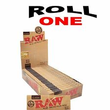 24 RAW Classic 1.25 Rolling Papers Full Box Natural Paper 1 1/4  Size MEDIUM