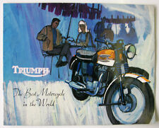 Triumph Range Motorcycle Sales Brochure Oct 1964 #907A/64 - Thunderbird, Tiger +