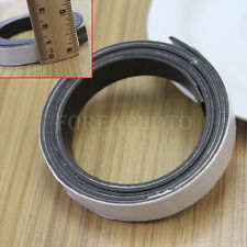 Black Self Adhesive Magnetic Tape Magnet Soft Strip Crafting Crafters 1 Meter