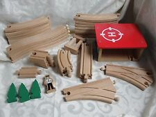 Thomas the Train Wooden Track Lot Helipad Curves Bends Trees Conductor