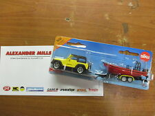 Siku 1658 Model Toy Jeep With Boat Replica Toy Diecast Model Toy