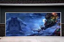 Christmas Garage Door Covers 3d Banners Holiday Outside Decorations Outdoor GD22