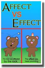 Affect vs Effect - New Classroom Reading and Writing Poster