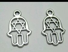 10 x star of david jewelry Pendant Silver Charm