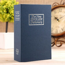 Secret Dictionary Book Cash Money Jewelry Safe Storage Box Security Key Lock B2