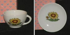 Replacement Cup or Saucer for Childs 12 pc China/Porcelain Tea Set SUNFLOWER