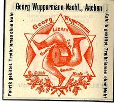 Georg Wippermann Nachf. Aachen Fabrik gekitt. Treibriemen Trademark 1908