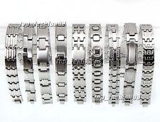 9pcs Lots Men's Jewelry Heavy Stainless Steel Silver Chain Bracelet  Link Wrist