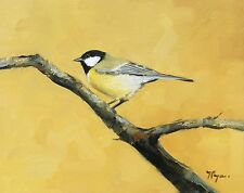 Original Oil painting - wildlife art - great tit    - by j payne