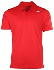 NIKE DRI-FIT STAY COOL GOLF TENNIS POLO SHORT SLEEVE SHIRT RED 453247-657  XL