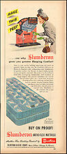 1949`Vintage ad for Slumberon ortho-Flex Mattress`Burton-Dixie Corp (080115)