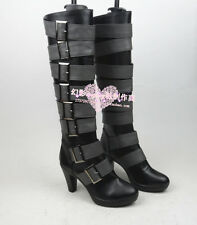 Black Butler under taker cosplay shoes boots Custom-Made 733